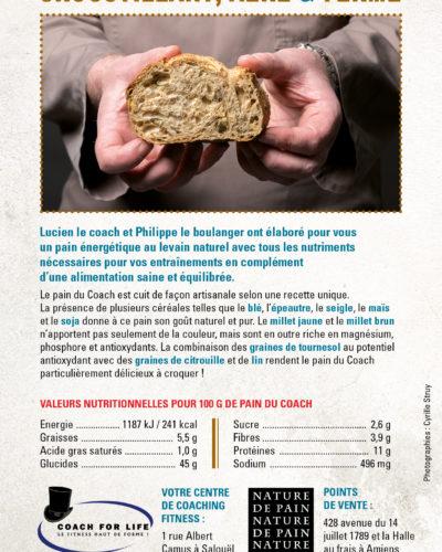 Les valeurs nutritionnelles et la présentation de notre pain