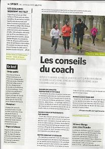Les conseils pour bien courir par Lucien Coulombel, Salouël