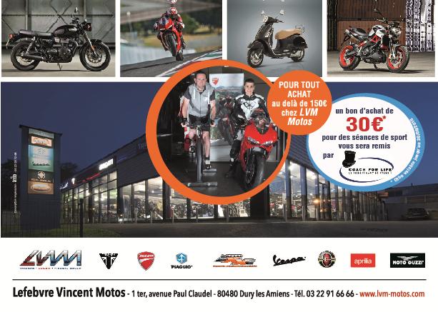 LVM moto à Amiens, pratiquez votre deux roues en fitness