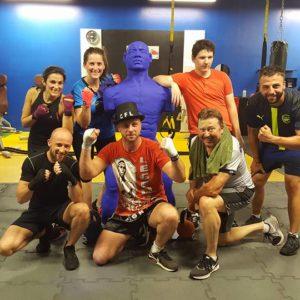 Groupe de la boxe et combat fitness