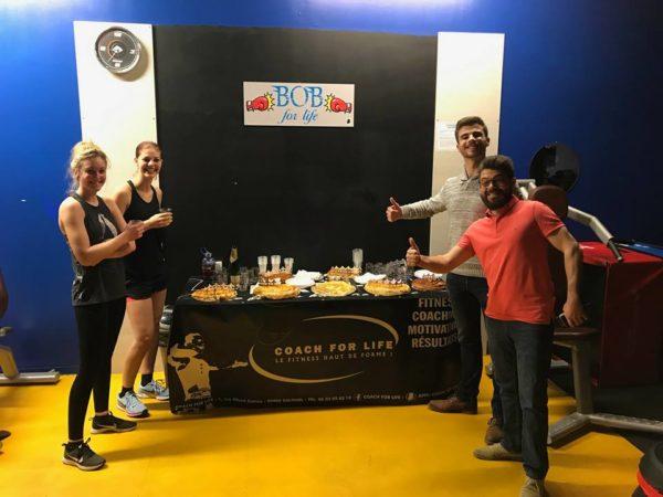 Repas fitness autour de Coach For Life en janvier 2019