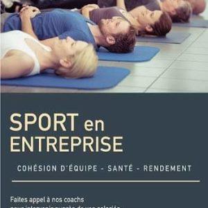 Flyer promo sur le sport en milieu professionnel